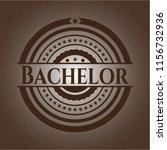 bachelor vintage wood emblem | Shutterstock .eps vector #1156732936