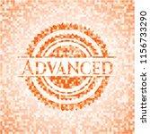 advanced orange mosaic emblem | Shutterstock .eps vector #1156733290