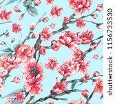 vector spring seamless pattern... | Shutterstock .eps vector #1156733530