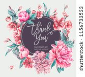 vector nature card pink flowers ... | Shutterstock .eps vector #1156733533