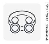 safety goggle icon  64x64... | Shutterstock .eps vector #1156734103