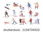 collection of male and female... | Shutterstock . vector #1156734523