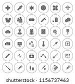 medical icons  health icons set ... | Shutterstock .eps vector #1156737463