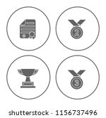 winner icons set   cup and... | Shutterstock .eps vector #1156737496