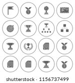 winner icons set   cup and... | Shutterstock .eps vector #1156737499