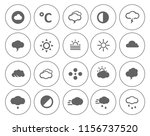 weather overcast icons set  ... | Shutterstock .eps vector #1156737520
