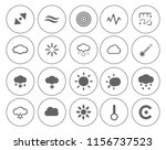 weather overcast icons set  ... | Shutterstock .eps vector #1156737523