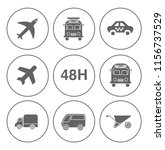 shipping icons set   delivery... | Shutterstock .eps vector #1156737529
