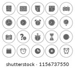 time clock icons set   alarm  ... | Shutterstock .eps vector #1156737550