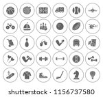 sports icons set   play sign... | Shutterstock .eps vector #1156737580