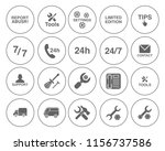 customer service icons set  ... | Shutterstock .eps vector #1156737586