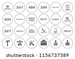 customer service icons set  ... | Shutterstock .eps vector #1156737589