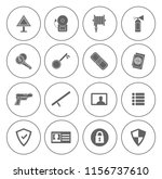 safety and security icons set   ... | Shutterstock .eps vector #1156737610