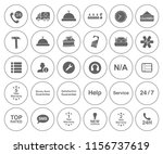 customer service icons set  ... | Shutterstock .eps vector #1156737619