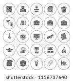vector school   education icons ... | Shutterstock .eps vector #1156737640