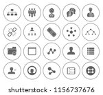 network icons  communication... | Shutterstock .eps vector #1156737676