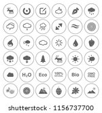 nature icons set   environment... | Shutterstock .eps vector #1156737700