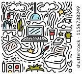 freelance doodle illustration.... | Shutterstock .eps vector #1156738249