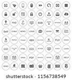 computer icons set   computer... | Shutterstock .eps vector #1156738549