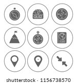 map pin icons set   navigation... | Shutterstock .eps vector #1156738570
