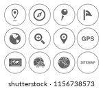 map pin icons set   navigation... | Shutterstock .eps vector #1156738573
