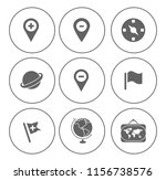 map pin icons set   navigation... | Shutterstock .eps vector #1156738576