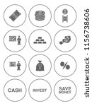 business investment icons set   ... | Shutterstock .eps vector #1156738606