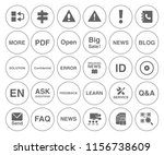 information icons set   info... | Shutterstock .eps vector #1156738609