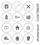 real estate icons set   house... | Shutterstock .eps vector #1156738639