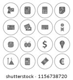 business financial icons set  ... | Shutterstock .eps vector #1156738720