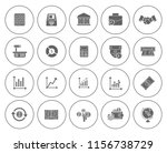 business financial icons set  ... | Shutterstock .eps vector #1156738729