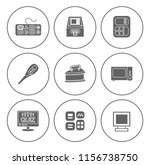 electronic computer icons set   ... | Shutterstock .eps vector #1156738750
