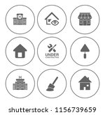 building icons set   vector... | Shutterstock .eps vector #1156739659