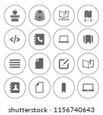 library books icons set  ... | Shutterstock .eps vector #1156740643