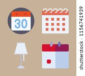 month vector icons set.... | Shutterstock .eps vector #1156741939