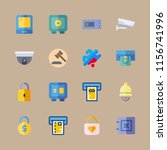 code vector icons set. safebox  ... | Shutterstock .eps vector #1156741996