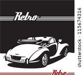 retro car. vintage cabriolet.   Shutterstock .eps vector #115674316