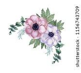 watercolor gouache set of... | Shutterstock . vector #1156743709