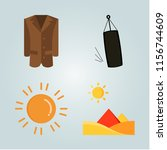 weather icons set. nature ... | Shutterstock .eps vector #1156744609