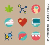 medical vector icons set. cells ... | Shutterstock .eps vector #1156744630