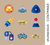 9 vehicle icons set | Shutterstock .eps vector #1156744663