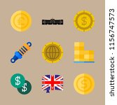 9 english icons set | Shutterstock .eps vector #1156747573