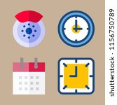 time icons set. woman  time ... | Shutterstock .eps vector #1156750789