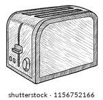 toaster illustration  drawing ... | Shutterstock .eps vector #1156752166