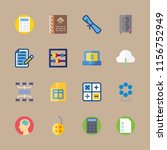 16 education icons set | Shutterstock .eps vector #1156752949