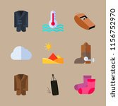 weather vector icons set. sand... | Shutterstock .eps vector #1156752970