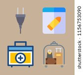 bag vector icons set. luggage ... | Shutterstock .eps vector #1156753090