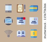 notebook vector icons set.... | Shutterstock .eps vector #1156756366