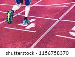 male athletes are running on... | Shutterstock . vector #1156758370