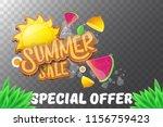 vector summer sale horizontal... | Shutterstock .eps vector #1156759423